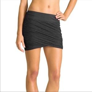 Athleta Twisted Mini Skirt in Heathered Gray
